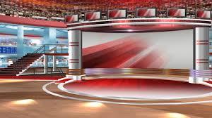 VIRTUAL STUDIO NEWSROOM 5 FREE Chroma Green Screen News Virtual Set Background