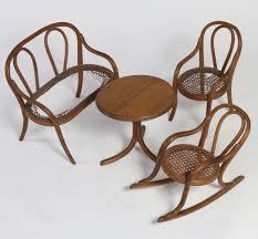 100 Cowboy In Rocking Chair Thonet Bentwood Furniture Salesman Sample Circa 1860 SURFING COWBOYS