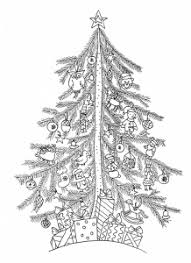 Coloring Pages Adults Christmas Tree 1 Free To Print