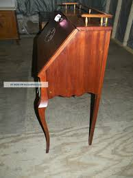 Drop Front Writing Desk by Antique Ladies Mahogany Drop Front Writing Desk With Key