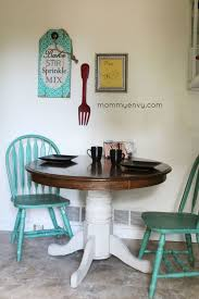 Chalk Paint Dining Table Farm Kitchen Painted Oak And Chairs Round