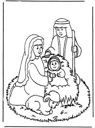 Nativity Coloring Pages For Kids Printable