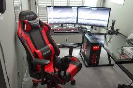 amazing battle station gaming computer desk setup black glass l