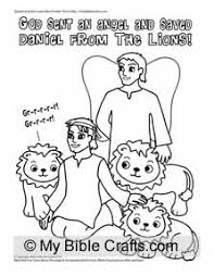 Daniel And The Lions Coloring Page For Children God Sent An Angel Saved