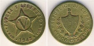 5 Centavo Cuba Copper Nickel