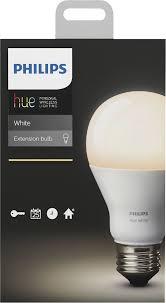 philips hue white a19 smart led bulb white 455295 best buy