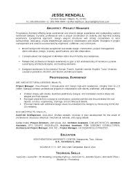 Architectural Resume Examples S Architecture No Experiences