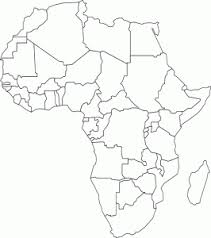 Africa Map Coloring Page Pattern