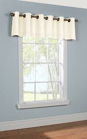 Simply Shabby Chic Curtain Panel by Grommet Valance Weathermate Solid Thermalogic