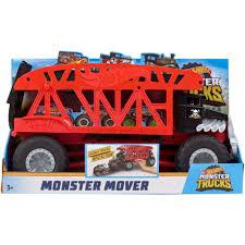 2018 Hot Wheels Monster Trucks Monster Mover Holds 12 Jam Case Bone ...