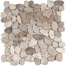 river rocks snowball mosaic sliced interceramic usa