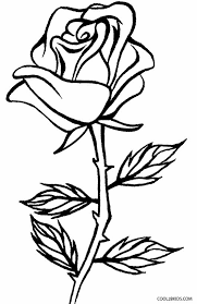Printable Rose Coloring Pages For Kids