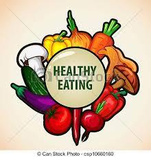 Healthy Food Menu Background Vector