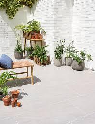 mimica fossil grigio exterior porcelain patio ideas