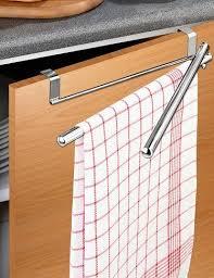 handtuchhalter für schranktüren mit schwenkarmen