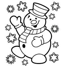 Cute Christmas Coloring Pages Snowman Is Very Happy For Page Download Free Disney