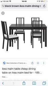 Ikea Black Brown Extendable Table