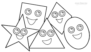 Cool Shapes Coloring Pages Toddlers