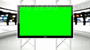News Studio 9 Green Screen Background
