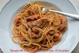 cuisiner les poivrons spaghetti à la crème de poivron et chorizo plaisir et equilibre