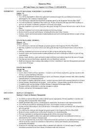 Download State Manager Resume Sample As Image File