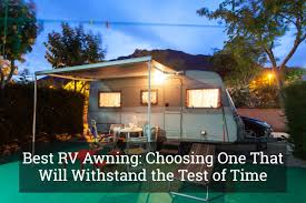 Best RV Awning: Choosing One That Will Withstand The Test Of Time ... 4x4 Car Side Rv Awning4wd Alinum Pole Oxfordcanvas Retractable Solera Awning Shades Covertech Inc Rv Awnings Replacement Cafree Of Colorado 292000 Size 2021 Vacationr Room Protect Your Gypsy Journal Travel Newspaper Fiesta Of Patio Freedom By Wheel Life Blog Archive Up Goes The New Awning With Window Fabric Vinyl And Acrylic Installing An Led Strip Light Tech Rvrob Replacing Ae Slide Topper Standard Method Youtube