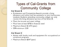 what type of grants available at community colleges ppt video
