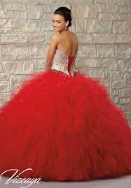 two tone satin and tulle with beading quinceanera dress style