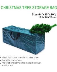 Heavy Duty Large Christmas Tree Storage Bag For Clean Up Holiday Green To 9ft