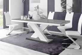 design esstisch tisch he 888 grau weiß hochglanz ausziehbar 160 bis 210 cm