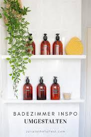bad inspo minimalistischer look für kosmetikflaschen