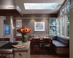 Eat In Kitchen Booth Ideas by Banquette Bench Dining Room Contemporary With Beige Bench