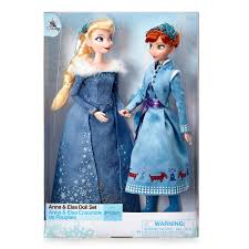 Disney Olafs Frozen Adventure Anna And Elsa Doll Set New With Box