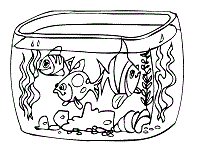Aquarium Or Fish Tank Coloring Page