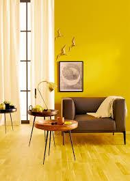 gelbe wandfarbe bilder ideen
