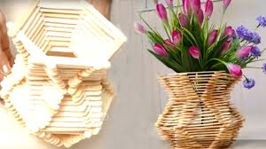 How To Make Flower Basket With Ice Cream Sticks