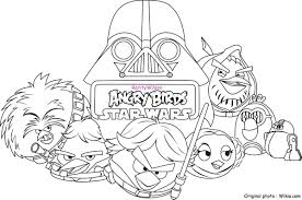 Angry Birds Coloring Pages Christmas Star Wars Space Free Online Full Size