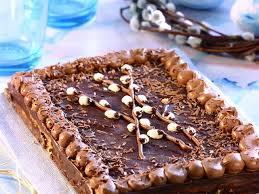 mazurek mit schokoladenglasur osterkuchen aus polen