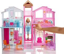 Barbie Living Room Set by Amazon Com Barbie Pink Passport 3 Story Townhouse Toys U0026 Games