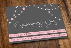 Printable Housewarming Invitation Pink Lights