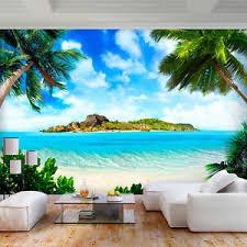 vlies fototapete strand palmen natur landschaft tapete