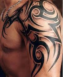 Tribal Tattoos For Guys Left Shoulder Like This Tri Ball Tat