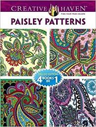 Dover Publications Book Creative Haven Paisley Pattern Coloring Books Special Edition