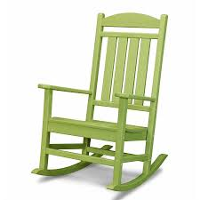 POLYWOOD Presidential Plastic Rocking Chair With Slat Seat ...