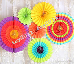 2018 Fiesta Paper Fan Decorations Decorative Foldable Tissue Flower Craft Wedding Garland Modern Party Hanging Decoration From Toy2011
