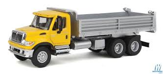 100 Yellow Dump Truck Walthers InternationalR 7600 3Axle HeavyDuty