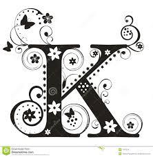 Letter K Stock Vector Illustration Of Flower Character 7207216