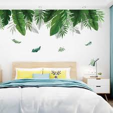 hause tropical dschungel grüne blätter wand aufkleber