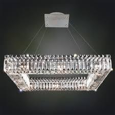 Sparkling Crystal Block Square Chandelier 12 Light