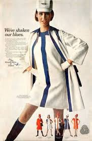 1968 Advert Touting United Airlines New Jean Louis Designed Flight Attendant Uniforms